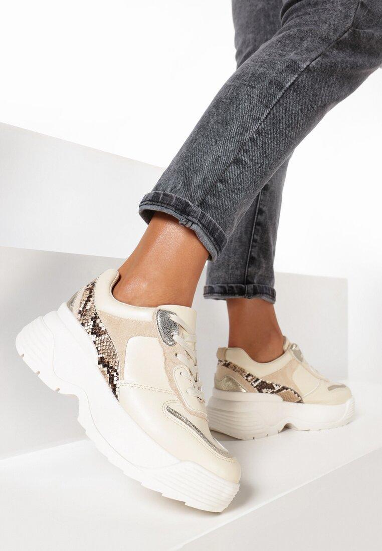 Beżowe Sneakersy Birdbush