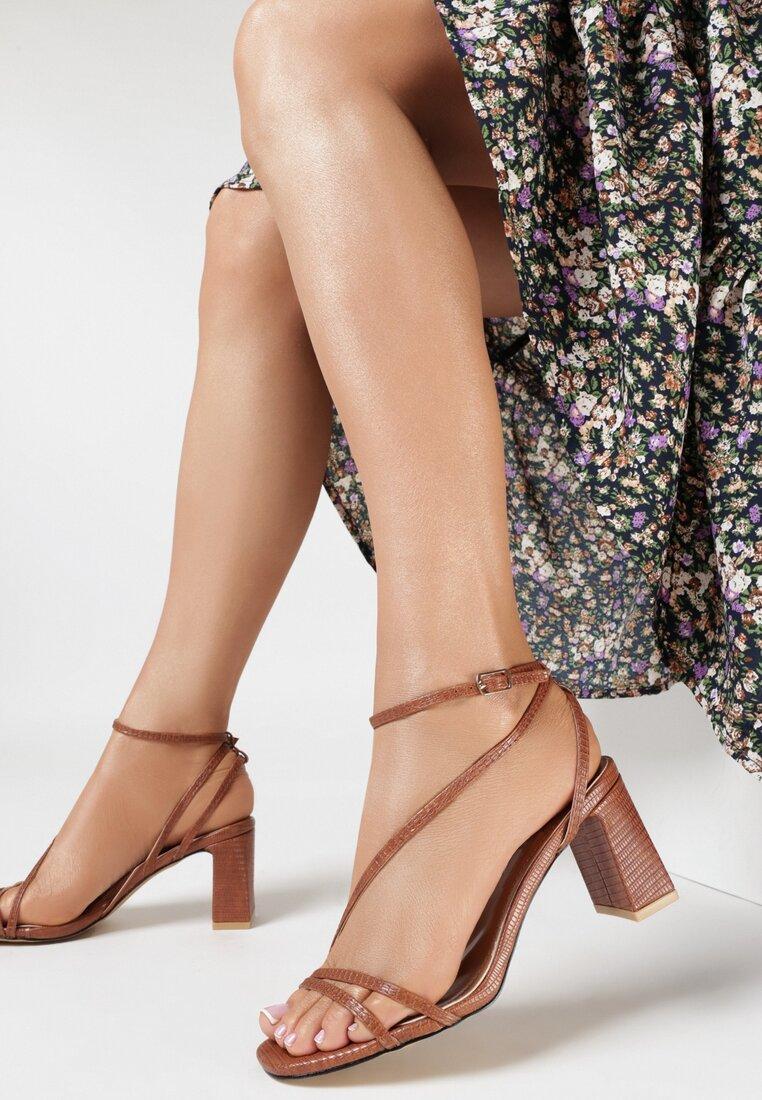 Brązowe Sandały Nonamis