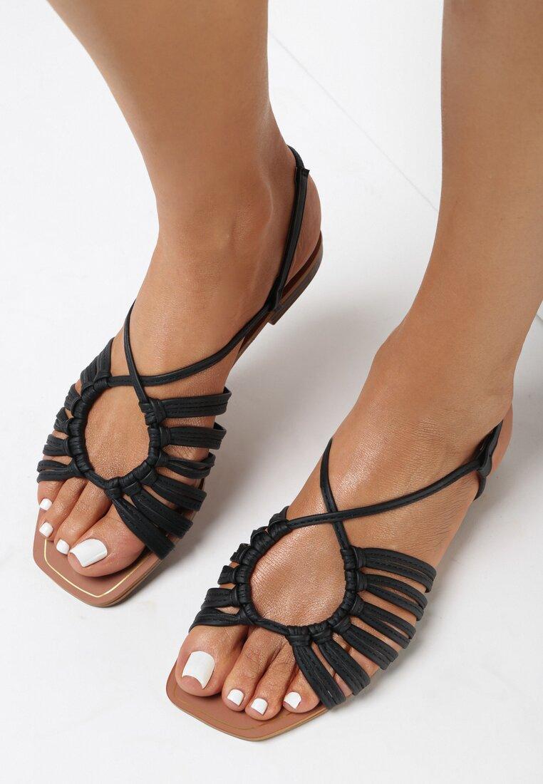 Czarne Sandały Halishi