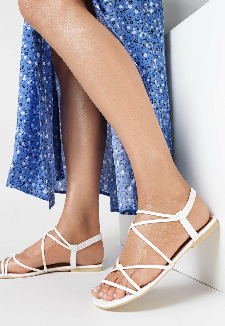 Białe Sandały Nautinoe