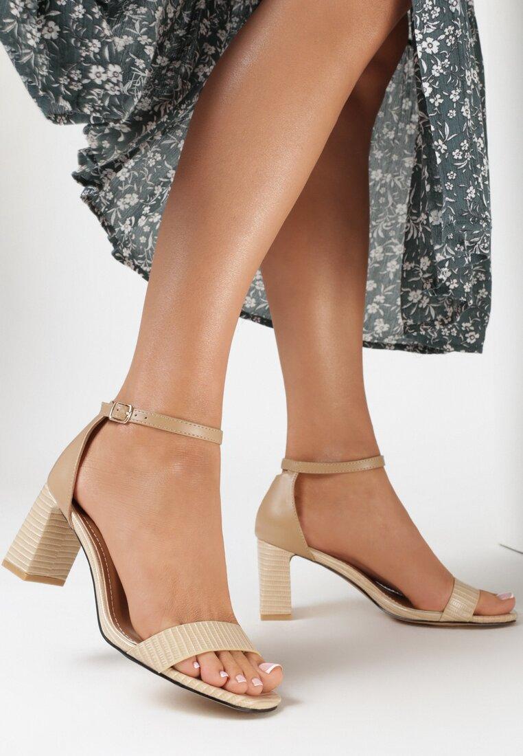 Beżowe Sandały Nedanos